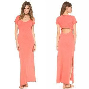 Free People Odessa Maxi Dress Cut Out Back SM d754